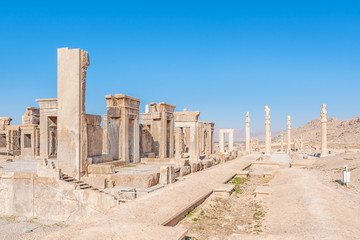 Persepolis complex in north Shiraz, Iran