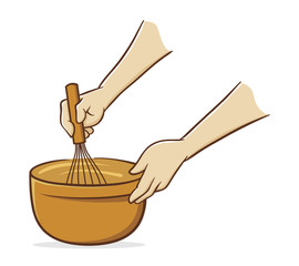 Hands whisking