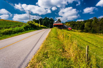 A beautiful country road in rural York County, Pennsylvania.
