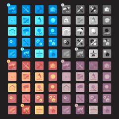 Maintenance icons set