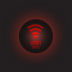 Abstract red wifi spot