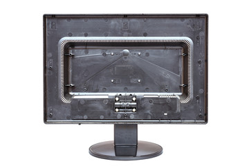 Old monitor isolated on white background