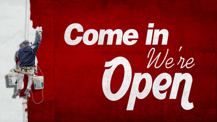 Come in, we are open