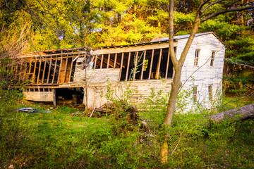 Abandoned barn in rural York County, Pennsylvania.