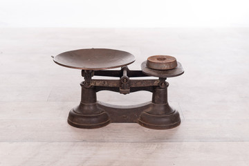 old vintage scale with weight