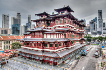 Chinese Temple in Singapore's Chinatown