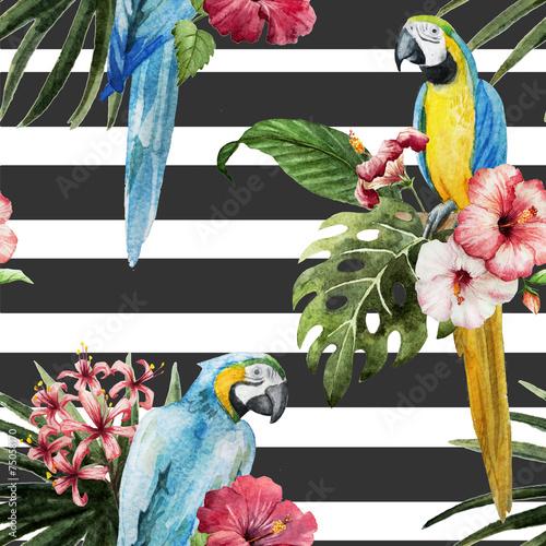 Паттерн, попугай,экзотика - 75058170