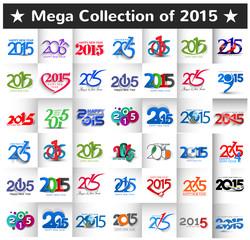Mega Collection of 2015 Design Vector.