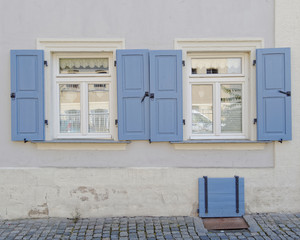 two vintage home windows, Bamberg, Germany