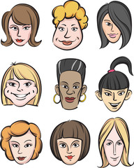 Funny women faces