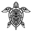 Close up Vector Turtle Polynesian Tattoo - 75059554