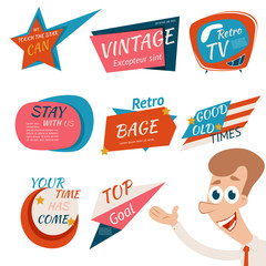 Vintage Style Retro Badges and Emblems