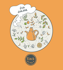 black tea card
