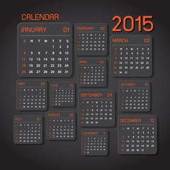 calendar 2015 Abstract background