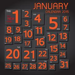 calendar 2015 Abstract background