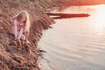girl in sandy beach