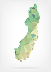 Low Poly map of Sweden