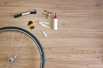 Bicycle repair background