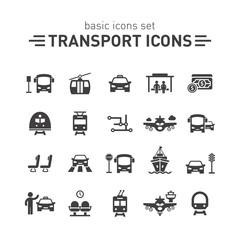 Transport icons set.