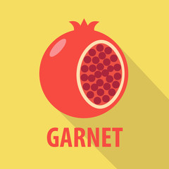 garnet icon in flat design with long shadows