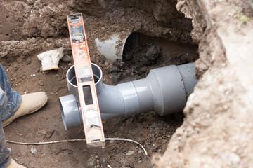 水道工事 下水管の敷設