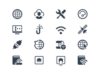Internet and provider icons