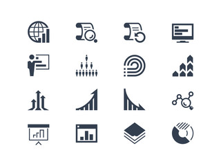 Statistics and report icons