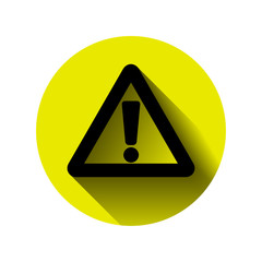 attention exclamation mark hazard warning
