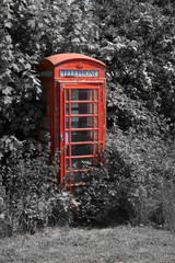 Neglected telephone box