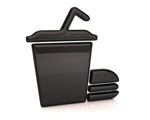 Black fast food icon