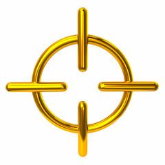 Golden crosshair icon