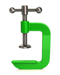 Green clamp Icon