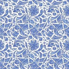Creative blue tribal pattern