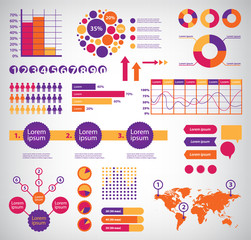 set of vector infographics