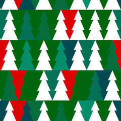 Vector Christmas seamless pattern with chrismas trees.