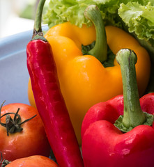 Red Yellow Peppers Indicates Bellpepper Bell And Bell-Pepper