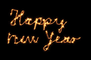 Happy new year - Wunderkerzenschrift