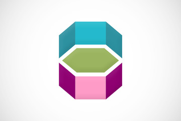 geometry prism abstract logo vector