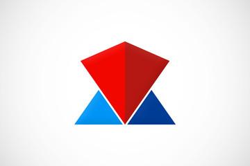 triangle shape abstract construction logo