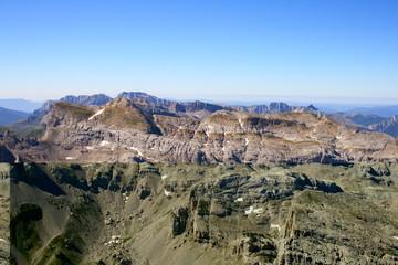 Pyrenees view from Anie peak summit.