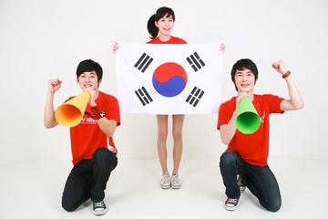 월드컵 대한민국 응원하는 태극전사