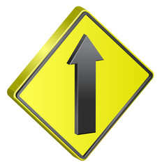 One Way traffic sign