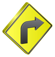 Right Turn traffic sign