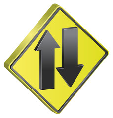 Two Way traffic sign