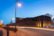 The Shakespeare Theatre building at dusk in Gdansk, Poland - 75067161