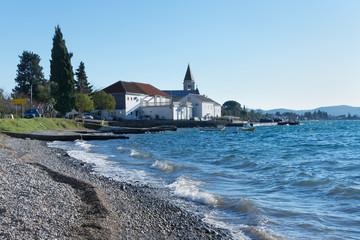 Donja Lastva village in winter. Bay of Kotor, Montenegro