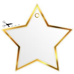 Goldener Stern zum ausschneiden