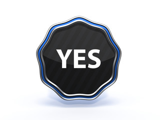 yes star icon on white background