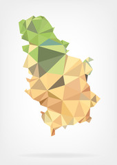 Low Poly map of Serbia