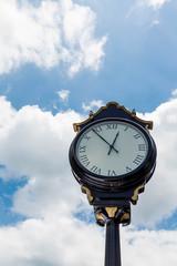 Classic Street Clock Under Nice Sky